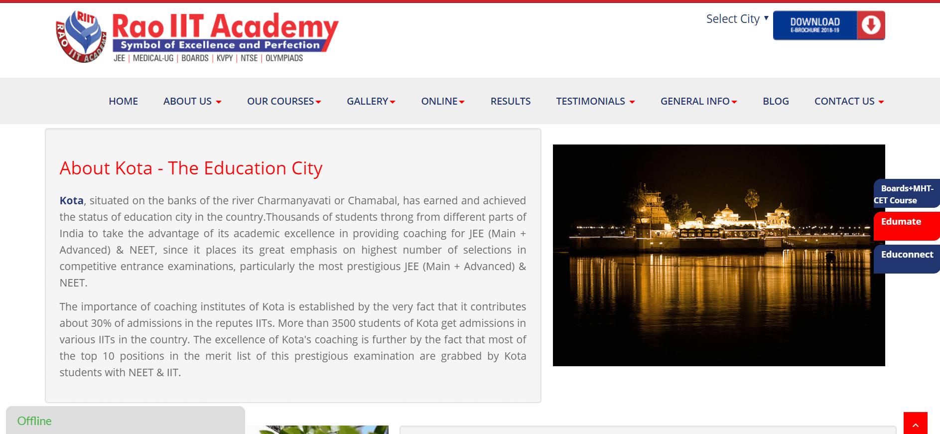 IIT-JEE Coaching Institutes in Kota [Rao IIT Academy]