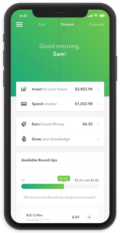 Money management apps[Acorns]