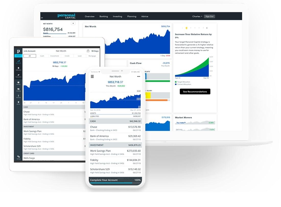 Money management apps[Personal capital]